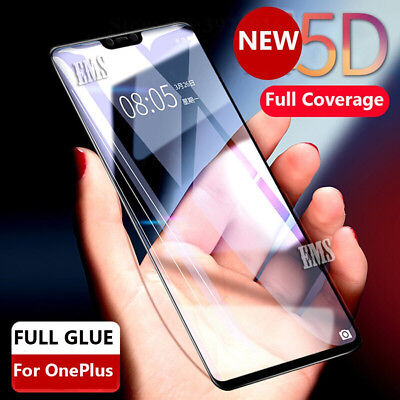 AU7.99 • Buy 5D Full Glue Full Cover Tempered Glass LCD Screen Protector Film For OnePlus 6T