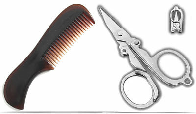 Comb & Scissors Combo For Beard, Moustache And Hair Pocket Sized  • 3.48£
