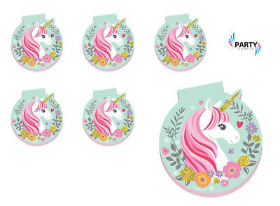 AU7.50 • Buy Unicorn Party Supplies Favours NOTEPAD Pack Of 6