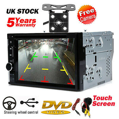 £89.50 • Buy Double 2 DIN Head Unit Car Stereo CD Player Touch Screen Mirror Link For GPS New