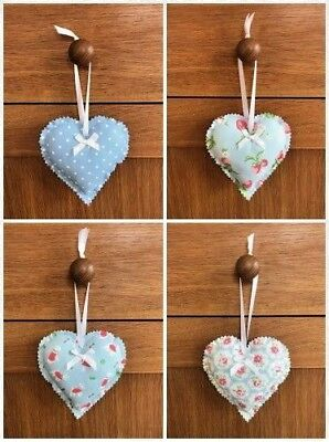 £3.99 • Buy Hanging Heart Decoration Made In Cath Kidston Fabric With Lavender/Fibre Filling
