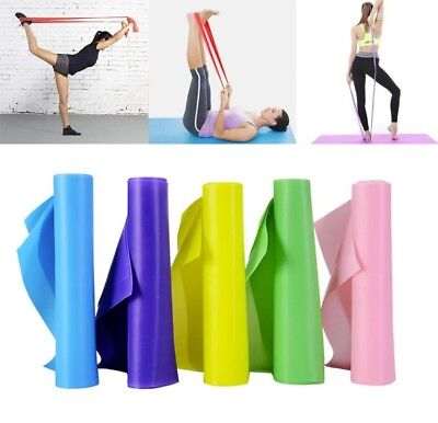 AU6.95 • Buy 1.5m Elastic Yoga Stretch Resistance Bands Exercise Fitness Band Theraband