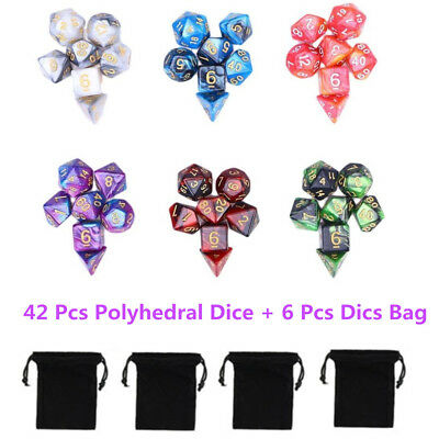 AU20.49 • Buy 42 PCS/Set Dungeons & Dragons MTG Polyhedral Game Dice Six-Color DND RPG Dice
