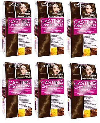L'Oreal Paris Casting Creme Gloss Chocolate Cookie 403 Semi Permanent Dye X6 • 15.99£
