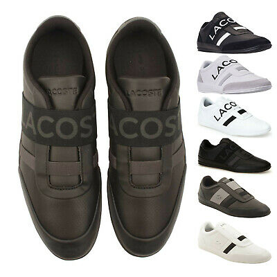 Mens Lacoste MISANO ELASTIC Slip On Leather Sneakers NEW   • 67.56£