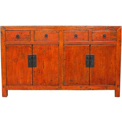 AU2480 • Buy Chinese Antique Furniture -  Original Orange Red Patina Sideboard (39-067)