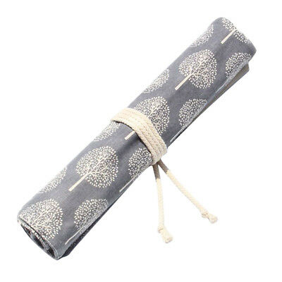 £9.82 • Buy 20Slot Chinese Style Artist Paint Brush Storage Roll Bag Holder Canvas Pouch