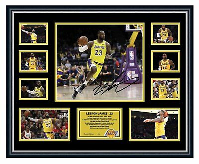 AU94.99 • Buy Lebron James La Lakers Signed Photo Limited Edition Framed Memorabilia