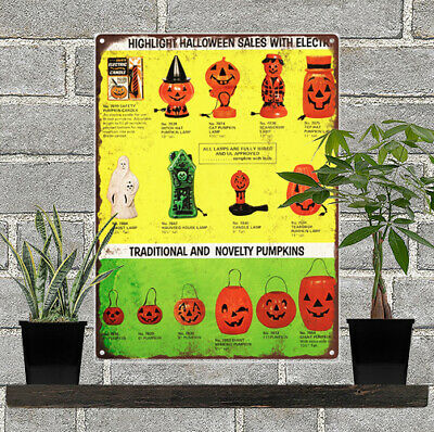 $21.95 • Buy Vintage Halloween Blow Mold Advertising Ad Baked Metal Repro Sign 9 X 12 60130