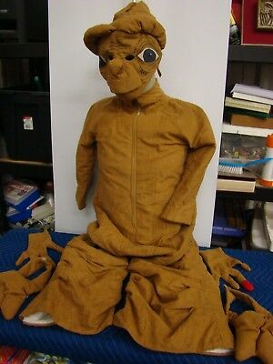 $200 • Buy E T The ExtraTerrestrial ALIEN COSTUME E.T. Heart Hands, Shoe Covers, Mask