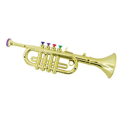 Trumpet Toy With 3 Colored Keys Musical Instrument Gift For Children Kids • 10.52£