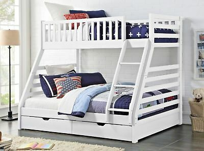 £549.99 • Buy Sweet Dreams States Solid Wooden Triple Sleeper Bunk Bed Frame In White & Grey
