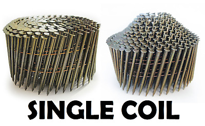 Galv & Bright Wire Collated 16º Coil Nails, Flat & Conical (dome) - Single Coil • 12.80£