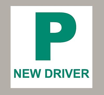 2 X P Pass Plates New Driver Stickers Self Adhesive • 2.70£