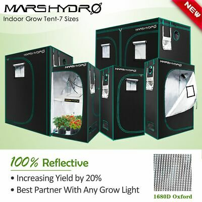 AU233.99 • Buy Mars Hydro Grow Tent Kits Hydroponic 1680D Oxford Reflective Indoor Plants Room