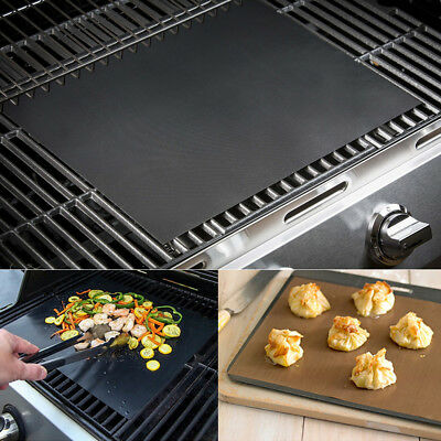 AU5.29 • Buy BBQ Grill Mat Teflon Reusable Sheet Resistant Non-Stick Barbecue Bake Meat Party