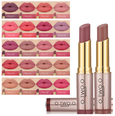 £4.19 • Buy O.TWO.O Makeup All Day Lipstick Long Lasting Matte Nude Coral Peach