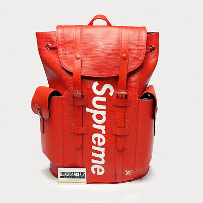 $ CDN23942.94 • Buy LOUIS VUITTON X SUPREME 100% AUTHENTIC LV BACKPACK CHRISTOPHER PM BAG EPI RED