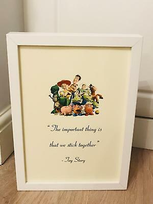 Disney Pixar Toy Story Friends Toys Quote A4 Print Art Framed Gift Home Free P&P • 3.99£