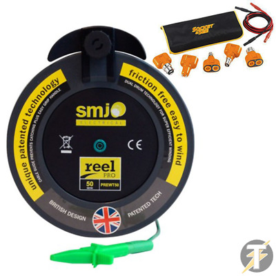SMJ-50MTL Reel Pro 50m R2 Wander Test Lead + Socket & See LTKIT10 Lamp Test Kit • 99.99£
