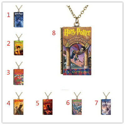 AU1.86 • Buy Miniature Cartoon Harry Potter Series Book Cover TINY Book Pendant Necklace