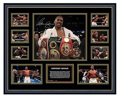AU94.99 • Buy Anthony Joshua 2018 Signed Limited Edition Framed Memorabilia