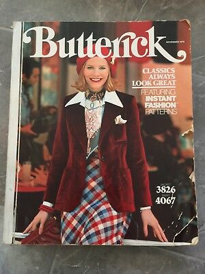$149.95 • Buy Butterick's Pattern Catalog Large Store Counter Patterns Book November 1975