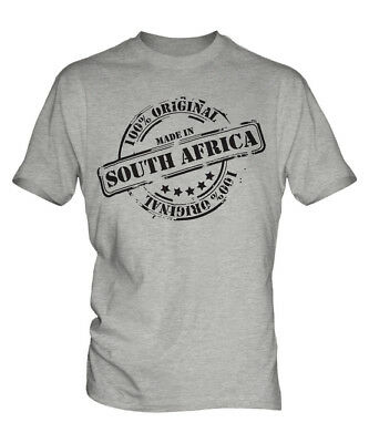 Made In South Africa Mens T-shirt Gift Christmas Birthday 18th 30th 40th 50th • 16£