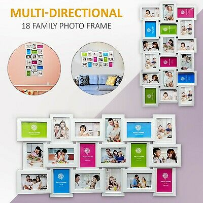 18 Multi Photo Frame Family Love Friends Party Wall Mounted Picture Album Frames • 16.99£