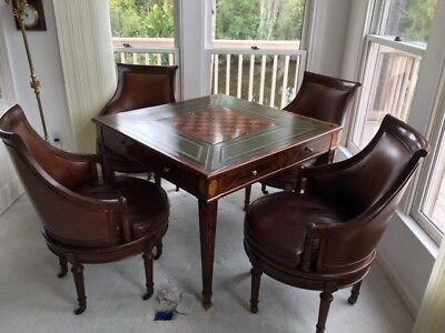$3800 • Buy Maitland Smith Mahogany Banded Game Accent Table