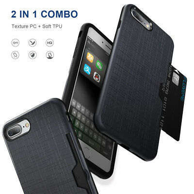 AU5.99 • Buy For IPhone Xs Max X Armor Case Wallet Card Shockproof Slim Cover