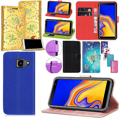 For Samsung Galaxy J4+ Plus - Magnetic PU Leather Wallet Flip Stand Case Cover • 2.75£