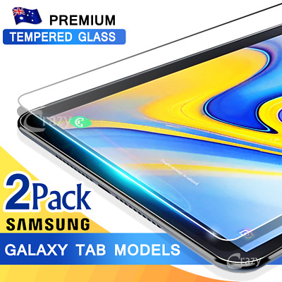 AU10.99 • Buy 2X Tempered Glass Screen Protector For Samsung Galaxy Tab A 10.5 8.0 10.1 S5E S6
