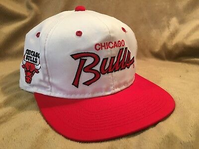 Vintage Chicago Bulls Sports Specialties White Red Script Snapback Hat Cap  • 99.99  4e9133152083