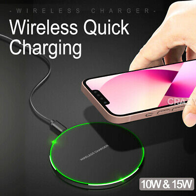 AU13.85 • Buy 10W Qi Wireless Charger FAST Charging For Apple IPhone 12 11 Pro XS Max XR X 7 8