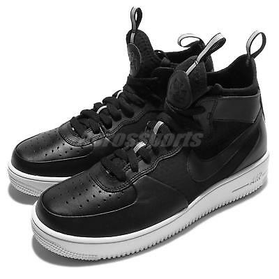 size 40 6fd73 8b858 Nike Air Force 1 Ultraforce Mid Black White Men AF1 Shoes Sneakers 864014- 001 •