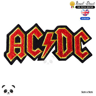 £2.99 • Buy Ac Dc Music Band Embroidered Iron On Sew On PatchBadge For Clothes Etc