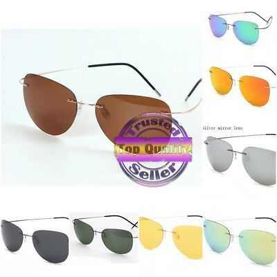 c566937fde 100% Titanium Silhouette Sunglasses SUPER LIGHT WEIGHT Designer Rimless  2018 • 15.99