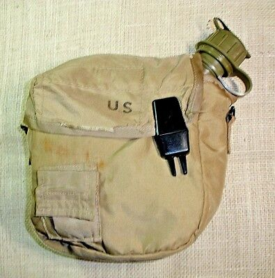 $ CDN21.16 • Buy Usgi Military Canteen  W/cover  & Strap Desert Tan 2qt Collapsible Dated 1991