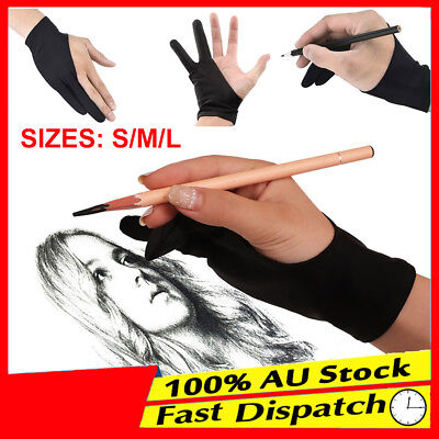 AU5.55 • Buy 1pc Graphic Sketch Drawing Writing Two Finger Tablet Artist Professional Glove
