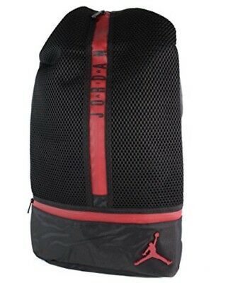 8dfab6f7e535 Nike Air Jordan All Net Retro Laptop Backpack Black Gym Red 9a1782-KR5  School