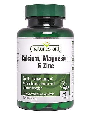£8.45 • Buy Natures Aid Calcium And Magnesium Zinc - 90 Tablets