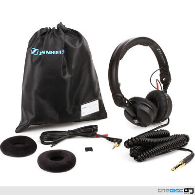 Sennheiser HD25 Plus DJ Headphones + Coiled & Straight Cables, Bag & Spare Pads • 169£