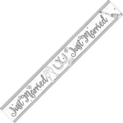 £2.29 • Buy Just Married Mr And Mrs Party Foil Banner Bunting Decorations Banners Partyware