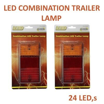 AU55 • Buy Led Combination Trailer Lamps 12v 50000hrs 24 Indicator-stop-tail-license Plate