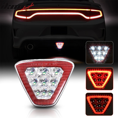 $34.99 • Buy Universal Triangle Red LED Rear Tail 3RD Brake Lights Stop Safety Lamp