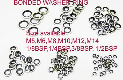 £27.99 • Buy Dowty Washers Ring /Bonded Seals - Metric Nitrile/Viton - Pack Of UPTO 100PC