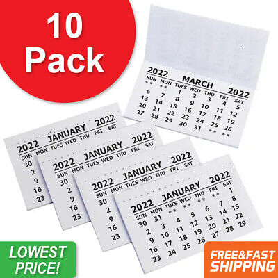 £2.89 • Buy 10 X 2021 Calendar Tabs Pads Insert White Mini Calender Tear Off Month To View