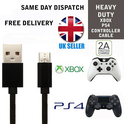 AU4.96 • Buy For 1M PS4 Charger Cable Dualshock 4 Controllers Black Micro USB Charging Cables