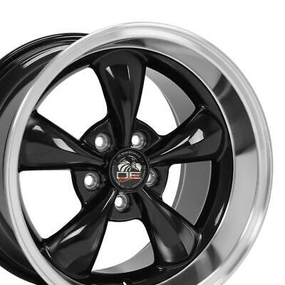 $144 • Buy 17  Rim Fits Ford Mustang Bullitt FP01 Black Mach'd 17x10.5 Wheel REAR ONLY